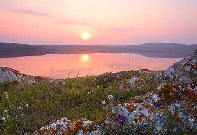 Кояшское озеро розовая жемчужина Керченского полуострова