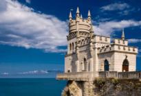 Замок Ласточкино гнездо визитка полуострова Крым