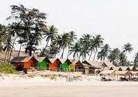 Курортная деревня и пляж Морджим в Гоа