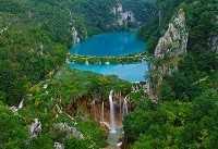 Заповедник Плитвицкие озера на карте Хорватии