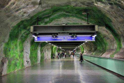 Стокгольмский метрополитен - самая длинная арт-галерея в мире