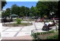 Сквер Тренева парк цветов в Симферополе