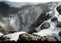 Холодный кулуар на Чатыр-Даге